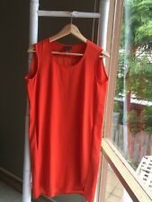 Lovely •Calvin Klein• Orange Shift Dress Sz  S EUC