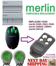 Merlin C945 Compatible Garage Gate Remote control transmitter replacement,keyfob