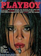 PLAYBOY 5,05/1982 maggio, Alain Delon-Anne Parillaud, christinarose Keller, maggio 82