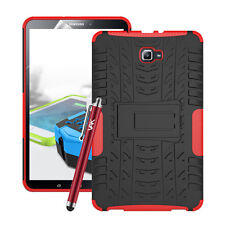 Samsung Galaxy Tab a 10.1 Case Cover Heavy Duty Shockproof Hard Protective Stand Red