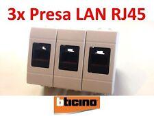3X PRESA DI RETE LAN DATI RJ45 UTP CAT.5 BTICINO LIVING INTERNATIONAL