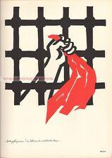 THE COMMUNISTIC MANIFESTO ARTWORK BY HERBERT SANDBERG * EAST GERMAN ORIG POSTER
