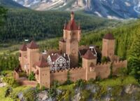 Vollmer 49910 Ho Château Du Moyen Âge avec Eclairage Led # Neuf Emballage