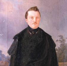 Porttmann Carl datiert 1845 BIEDERMEIER Portrait GRAF von Wellner Adel Adliger