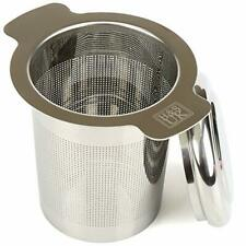 HS Stainless Steel Tea Infuser Strainer Filter Steeper with Lid for Teapot Kett