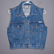 Bill Blass Vintage Womens Blue Denim Jeans Vest Size Small Euc