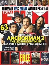 NEW! TOTAL FILM 213 December 2013 Anchorman 2 Oscars +Free HOBBIT CARRIE POSTERS