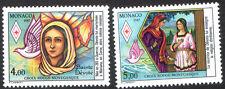MONACO. CROIX ROUGE. 1987 - Y&T  N° 1594+1595 cote 5,15€