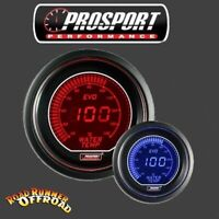Prosport EVO Digital Water Temp Gauge Blue Red 52mm