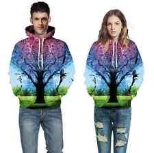 Couples Men Women 3D Graphic Print Hoodie Jacket Sweater Sweatshirt Pullover Top