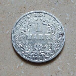 1 Mark Deutsches Reich 1904 A - Kursmünze Silber (J 17) Kaiserreich