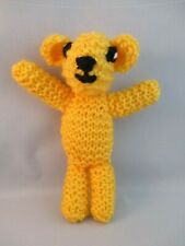 HAND KNITTED TEDDY BEAR. CHILDRENS/BABY  CUDDLY TOYS..