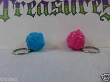 Tupperware Cupcake Keeper Mini Key Chains 2 Opens Keep Pills Mints Pink Blue New