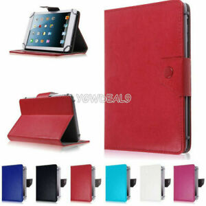 "Folio Leather Case stand Cover Fits Universal Android Tablet 7"" 8"" 9"" 10"" -Inch"