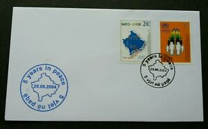Kosovo 5 Years In Peace 2004 (stamp FDC)