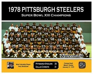 NFL 1978 Pittsburgh Steelers Super Bowl Champions Team Picture 8 X 10 Photo Pic