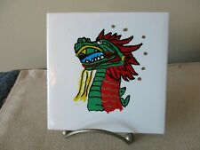 New listing Coaster Set Of 2 Hand Painted Dragon 4x4