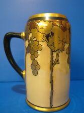 Vintage Limoges Mug Gold Art Deco Design Grape Vines Artist Signed