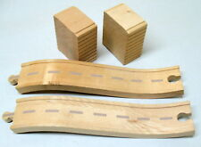 Thomas, Wooden 2- ASCENDNG ROAD TRACKS WITH SUPPORTS, EUC