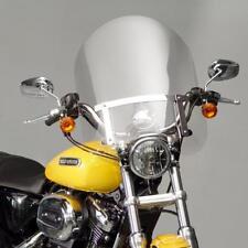 "Harley Sportster 883/1200 Low/SuperLow/Custom 20"" Windshield w/Chrome Hardware"