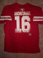 HOF San Francisco 49ers JOE MONTANA nfl Football Jersey Adult MENS/MEN'S xxl-2xl