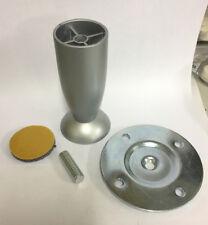 Piedino piede x tavolo in lega con piastra colore alluminio ø 40 mm h 100 mm new
