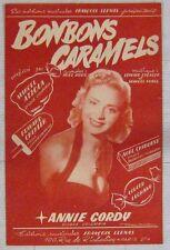 Annie Cordy Partition Bonbons caramels