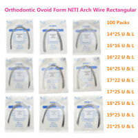 100X Dental Rectangular Wires Thermal Activated NITI Arch Wire