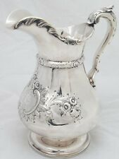 Early Coin Silver Water Pitcher TAYLOR LAWRIE & WOOD c1837-1850 Philadelphia PA