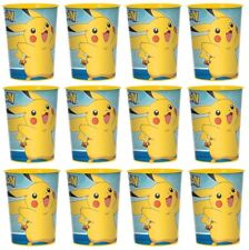 12x Pokemon Pikachu Plastic Reusable Cups 16oz~Birthday Party Favors Supplies~