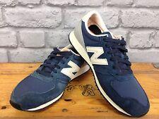 New balance 420 Reino Unido 5 UE 38 Azul Marino De Tela De Ante Gris Correr Zapatillas Rrp £ 65