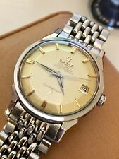 Omega vintage Constellation 1963 rice bracelet men's Pie Pan gents watch + box