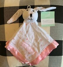 Aden + Anais Bunny Rabbit Lovey,Security Blanket Muslin Pink,White,Stars,Tan,NEW