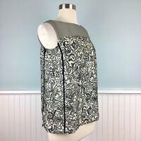 Size XS Ann Taylor Loft Women's Paisley Floral Tank Top Blouse Shirt Extra Small