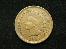 SUMMER SALE!! XF 1907 INDIAN HEAD CENT PENNY w/ DIAMONDS & FULL LIBERTY #104c