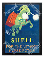 Historic Shell petrol 1930s Advertising Postcard