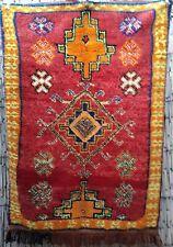 Vintage Moroccan berber tribal wool rug 155 x 110 cm