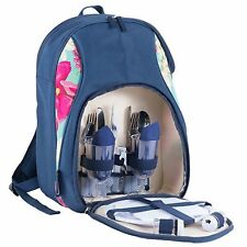 Navigate Hothouse Floral Luxury Insulated Picnic Backpack