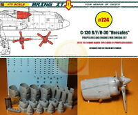 """1/72. C-130B/F/H-30 """"Hercules"""" engines resin set, by """"Bring it!""""/""""LMH"""" #724"""