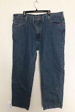 CARHARTT Mens 44x32 Jeans Medium Relaxed Fit Straight Leg Work