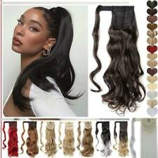 Premium Hair Ponytail Clip In Real as Human Hair Extension Wrap Around Pony Tail