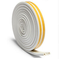 5M D Foam Draught Self Adhesive Window Door Excluder Seal Strip Rubber Roll
