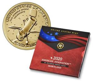 2020 $1 American Innovation Reverse Proof Coin (San Francisco) (Maryland)