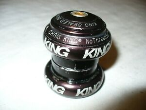 "Chris King NoThreadset 1 1/8"" Headset Black Threadless Straight Steerer"