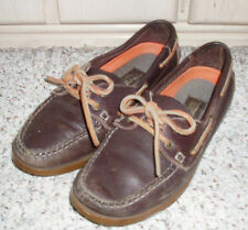 TRENDSPORTS Trendmates Casual Leather Boat Deck Shoes~Brown / Beige~Size 8 D