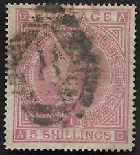 1867 QV SG126 5s Rose AG Plate 1 Good Used CV £675+