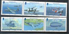 Isle of Man-Aviation-2009 mnh set-Zeppelin etc-