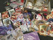 Card Making X 1 Bundle Of  Christmas Embellishments And Toppers /clearout