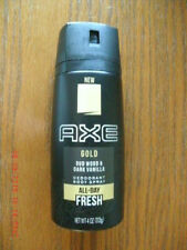 NEW Axe Gold Oud Wood & Dark Vanilla Deodorant Body Spray 4 oz