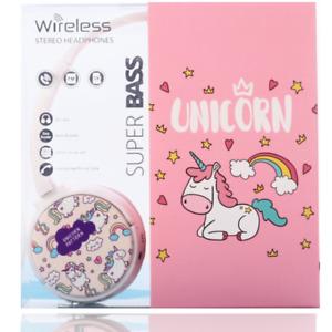 Bluetooth Inalámbrico Auriculares Unicornio Modelo Alta Calidad Audio Sound Pink